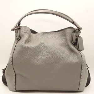 NEW COACH Edie 42 Riveted Leather Shoulder Bag
